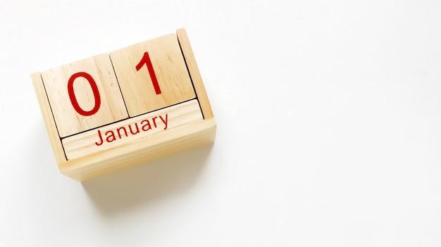 Composition du nouvel an, calendrier du 1er janvier