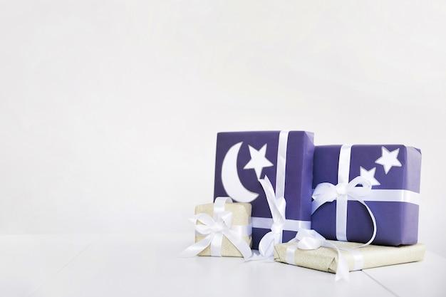 Composition du ramadan avec des cadeaux