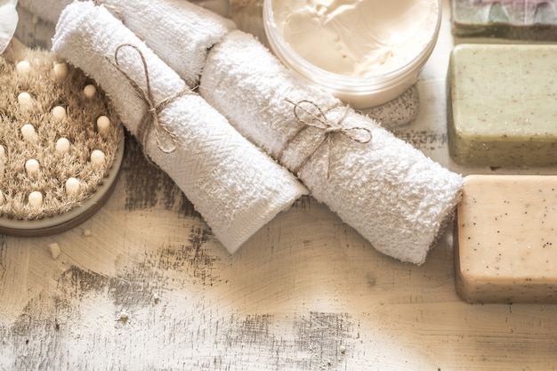 Composition du spa avec du savon