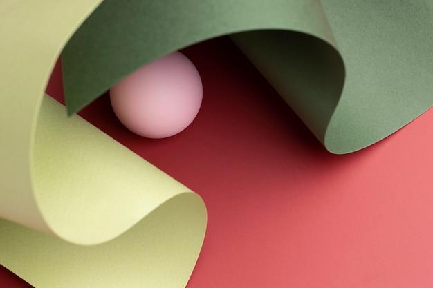 Composition d'éléments de conception 3d abstrait