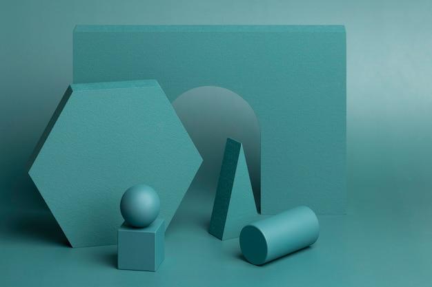 Composition d'éléments de conception 3d abstraits