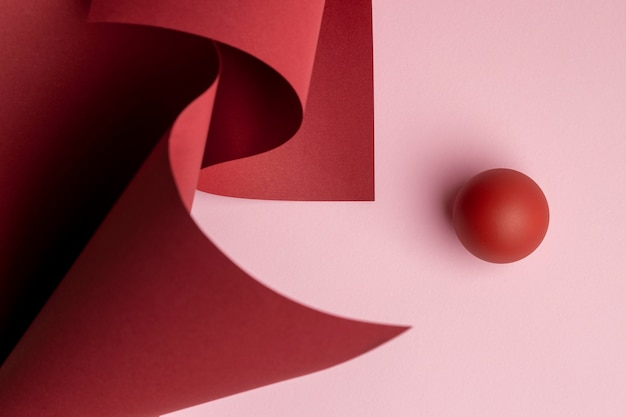 Composition d'éléments de conception abstraite en rendu 3d