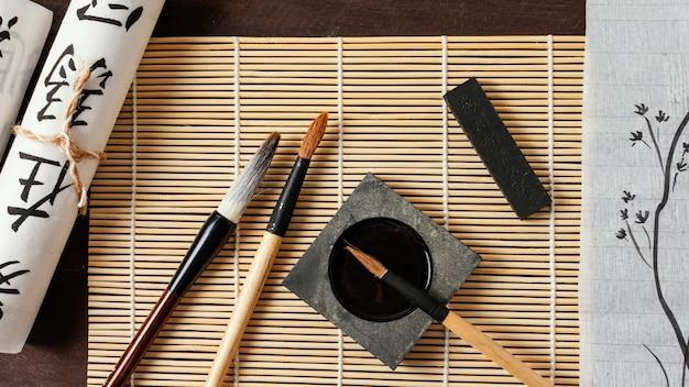 Composition d'éléments d'encre chinoise