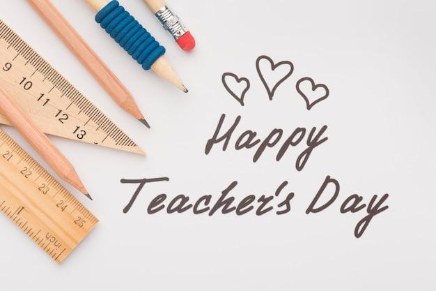 Composition des éléments de la journée de l'enseignant