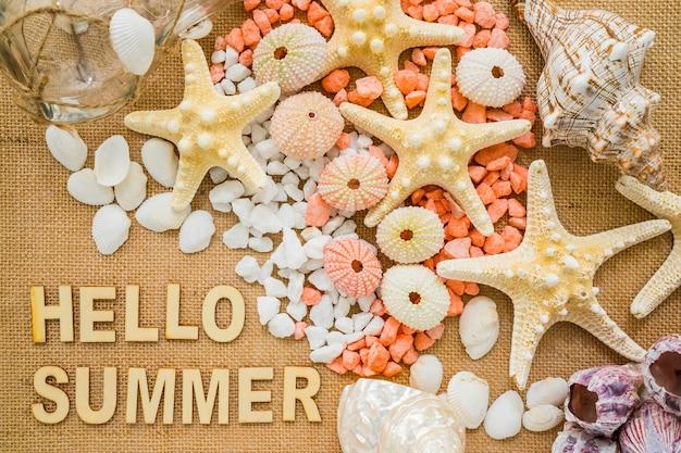 Composition d'été avec une décoration exceptionnelle