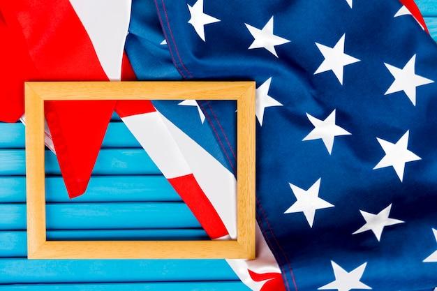 Composition de la fête de l'indépendance avec cadre