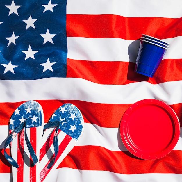 Composition de la fête de l'indépendance sur le drapeau