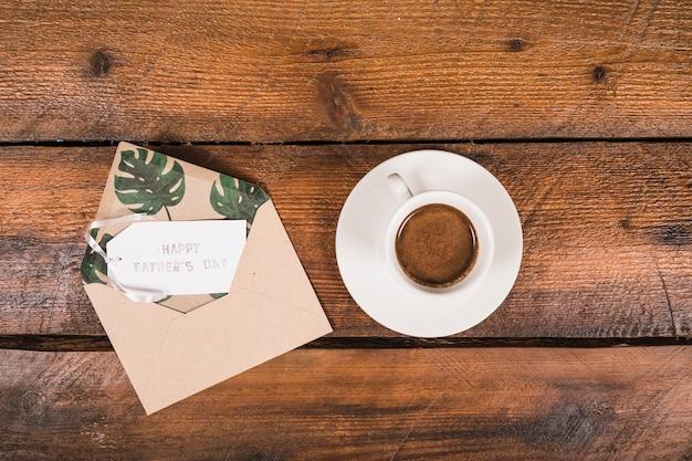 Composition de la fête des pères avec café