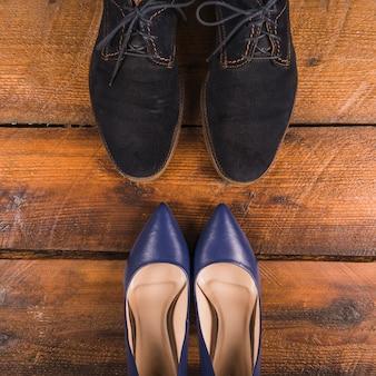 Composition de la fête des pères avec des chaussures