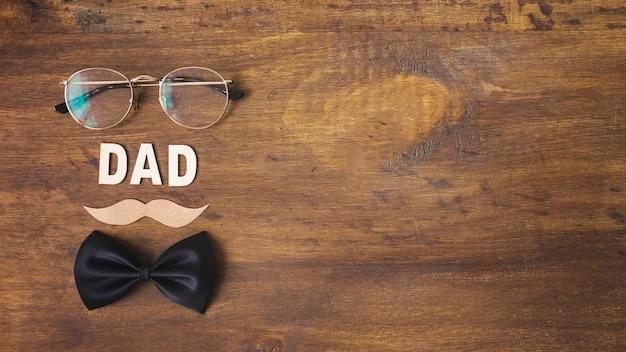 Composition de fête des pères avec copyspace