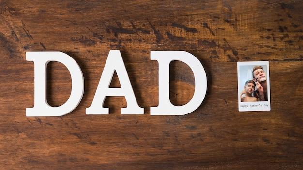 Composition de fête des pères avec foto