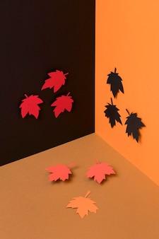 Composition de feuilles d'automne en papier