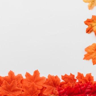 Composition de feuilles d'érable dans le cadre