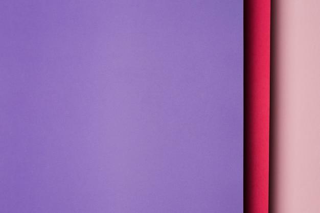 Composition de feuilles de papier multicolores