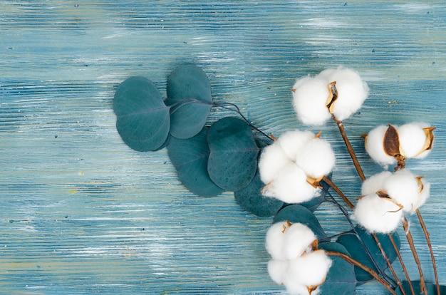 Composition avec des fleurs de coton