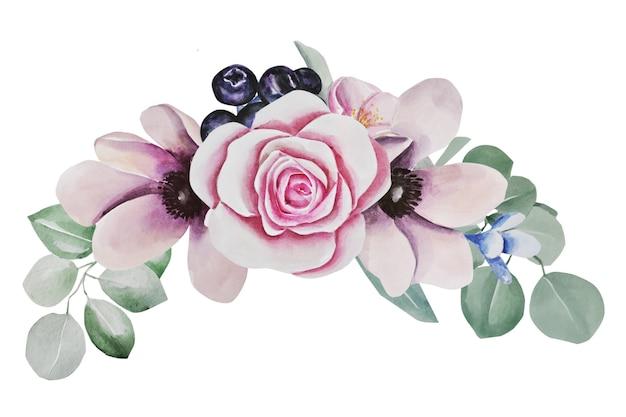 Composition de fleurs. illustration aquarelle
