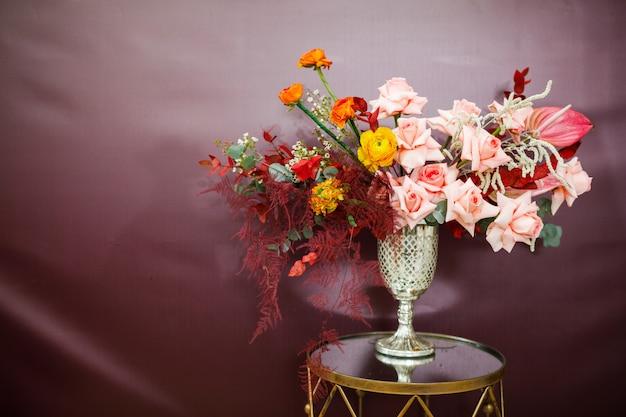 Composition de fleurs.