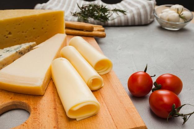 Composition de fromage isométrique