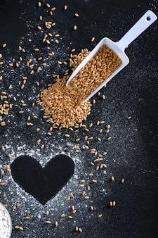 Composition avec des grains de blé