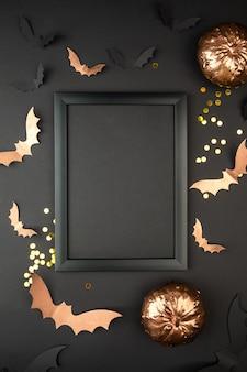Composition d'halloween avec cadre
