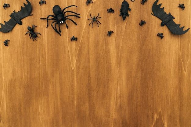 Composition de halloween avec espace au bas