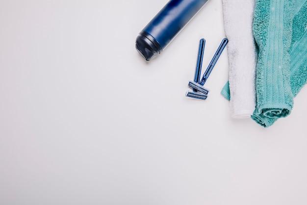 Composition hygiénique avec serviette et espace