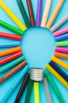 Composition d'innovation abstraite colorée
