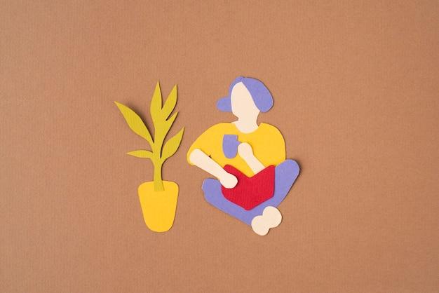 Composition d'isolement de style papier