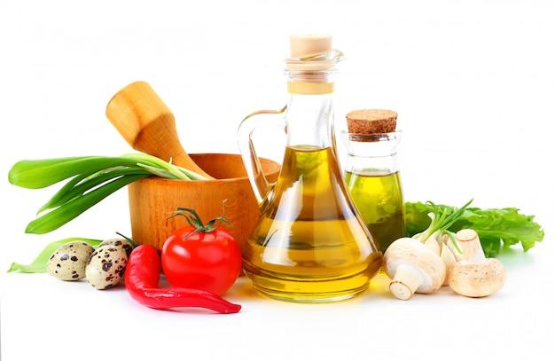Composition avec légumes et épices