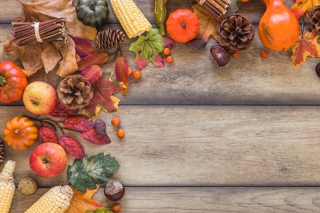 Composition de légumes et feuillage