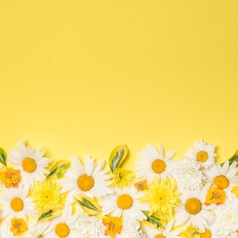 Composition de magnifiques fleurs blanches