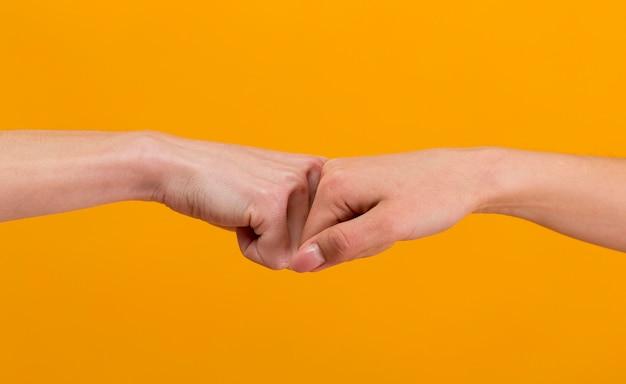 Composition des mains de la journée de l'amitié