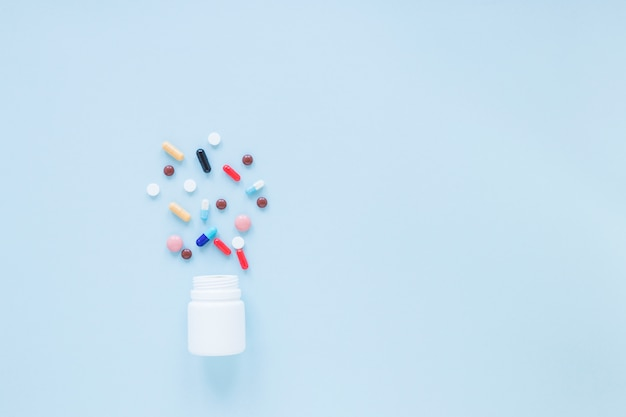 Composition médicale à plat avec fond