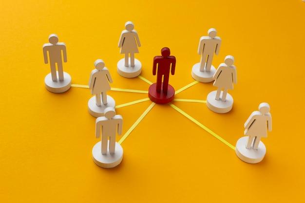Composition de nature morte de concept de réseautage