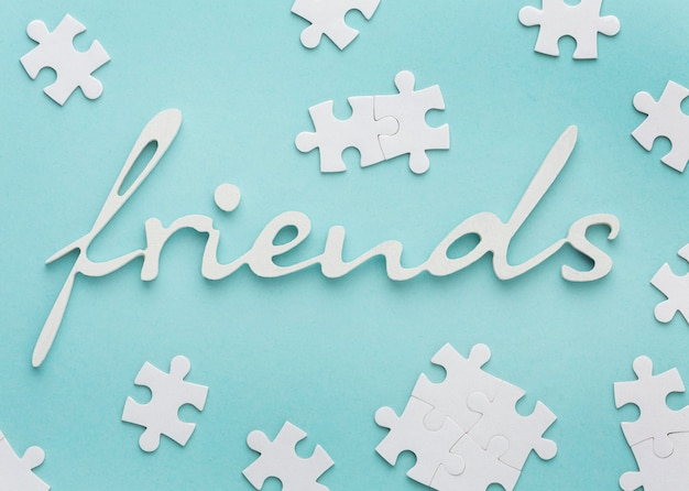 Composition de nature morte pour la journée de l'amitié