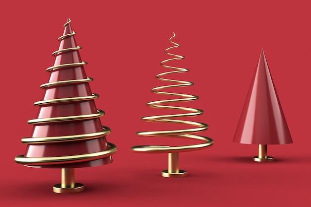 Composition de noël avec des arbres de noël abstraits