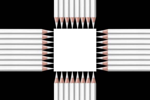 Composition en noir et blanc de crayons
