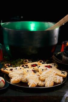 Composition de nourriture pour la fête d'halloween