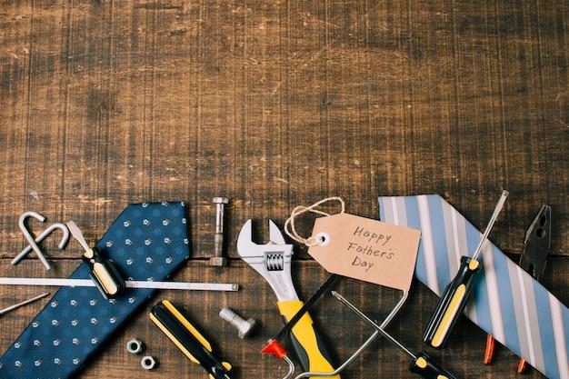 Composition d'objets pour la fête des pères