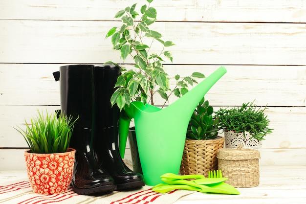 Composition des outils de jardin