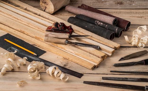 Composition d'outils métiers artisanaux