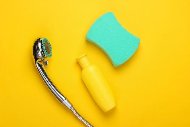Composition à plat de la pomme de douche pour la salle de bain et les produits de bain