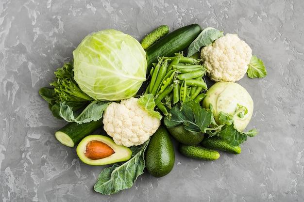 Composition plate de légumes sains