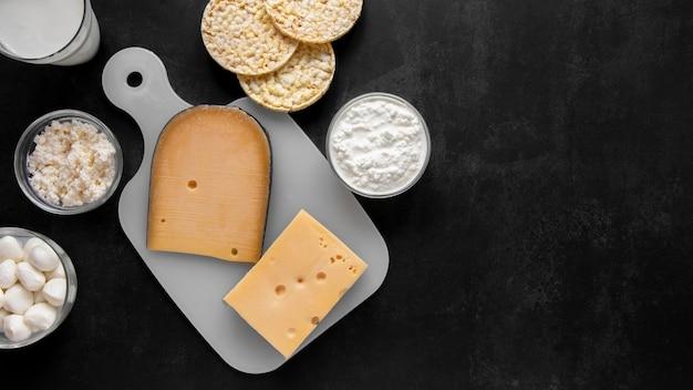 Composition de produits laitiers à plat