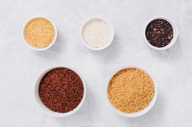 Composition de riz plat