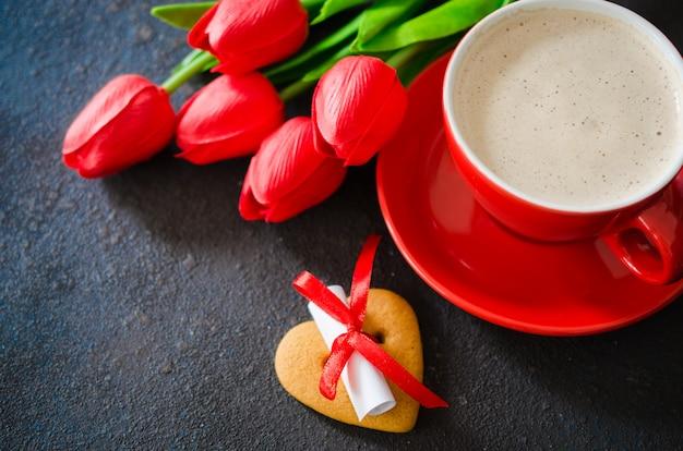 Composition romantique pour la saint valentin, l'anniversaire ou la fête des mères.