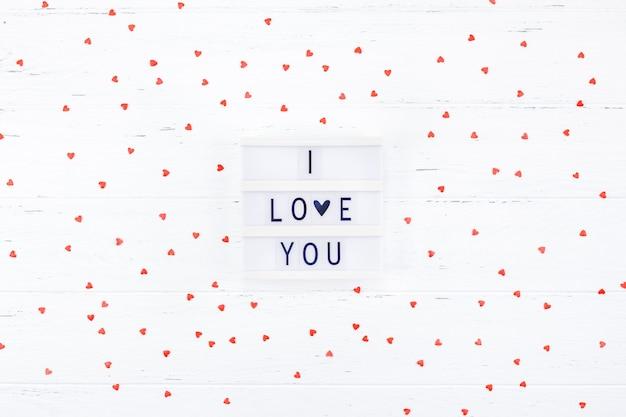 Composition romantique de la saint-valentin