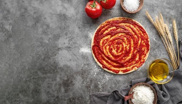 Composition de savoureuses pizzas traditionnelles