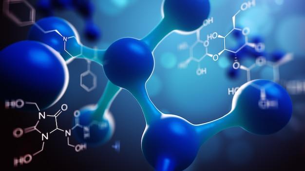 Composition scientifique avec des molécules et des atomes
