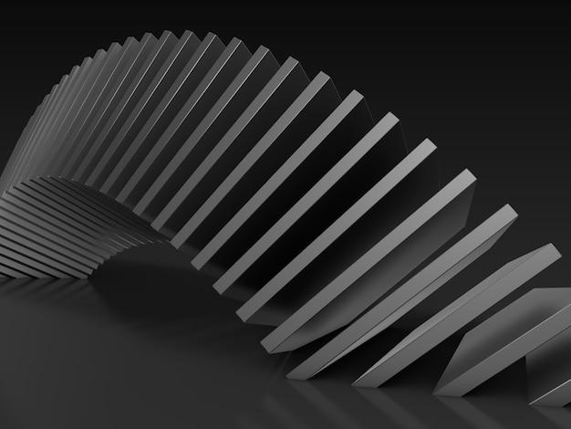 Composition sombre abstraite de formes carrées. rendu 3d.